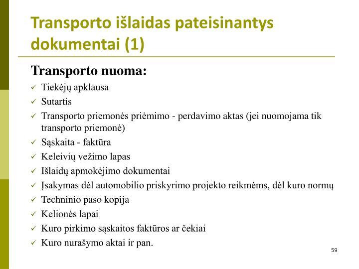 Transporto išlaidas pateisinantys dokumentai (1)