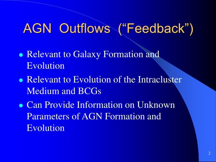 Agn outflows feedback
