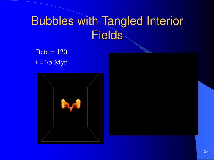 Bubbles with Tangled Interior Fields