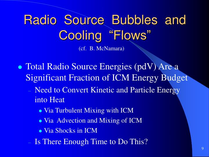"""Radio  Source  Bubbles  and  Cooling  """"Flows"""""""