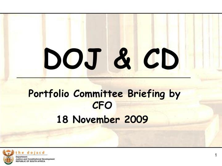 Portfolio committee briefing by cfo 18 november 2009