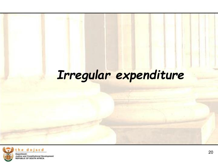 Irregular expenditure