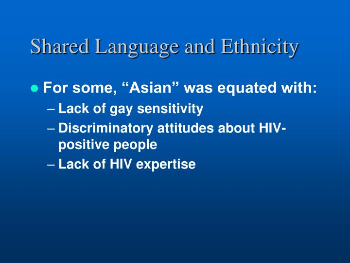 Shared Language and Ethnicity