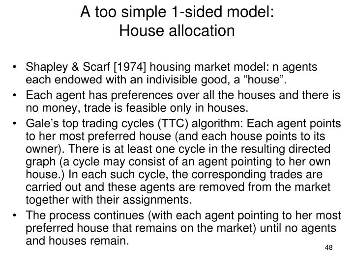 A too simple 1-sided model: