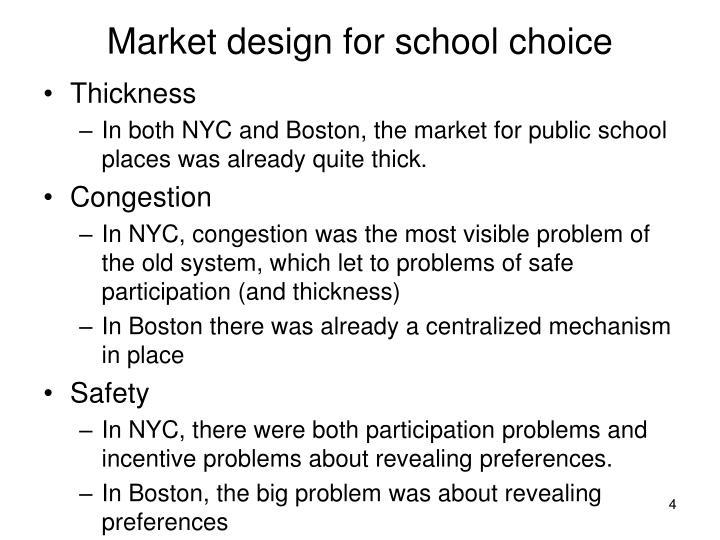 Market design for school choice