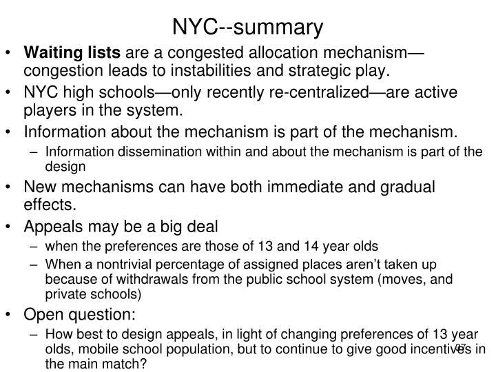 NYC--summary