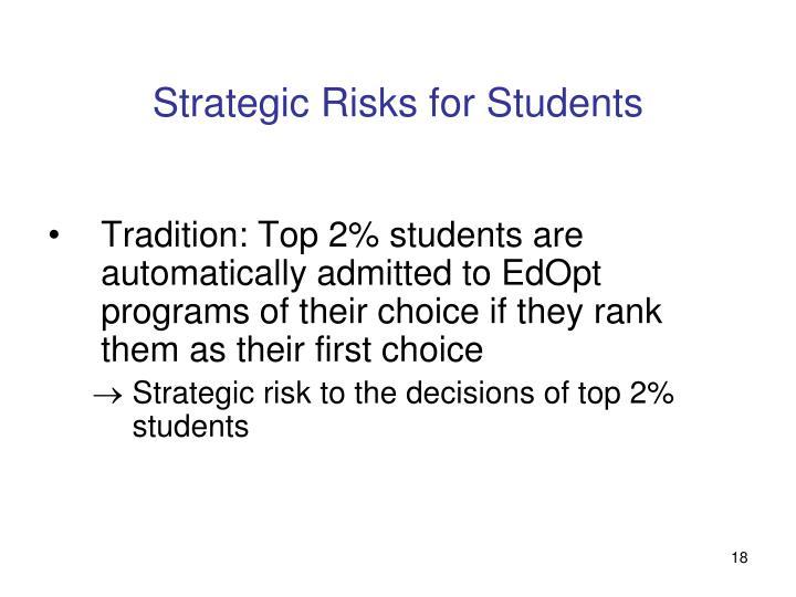 Strategic Risks for Students