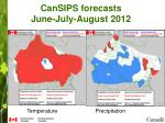 cansips forecasts june july august 2012