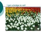 i got a bridge to sell