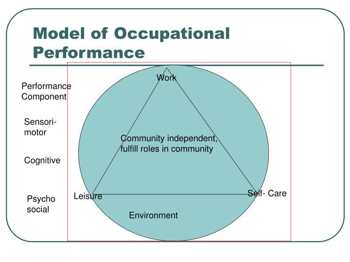 Model of Occupational Performance