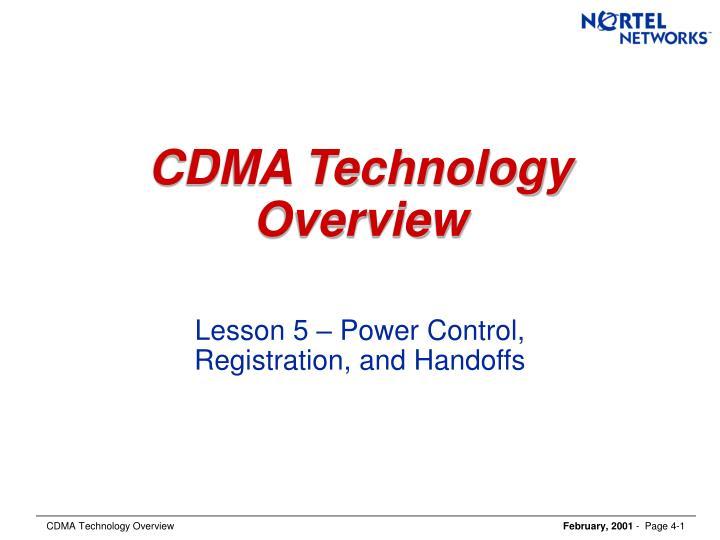 Cdma technology overview