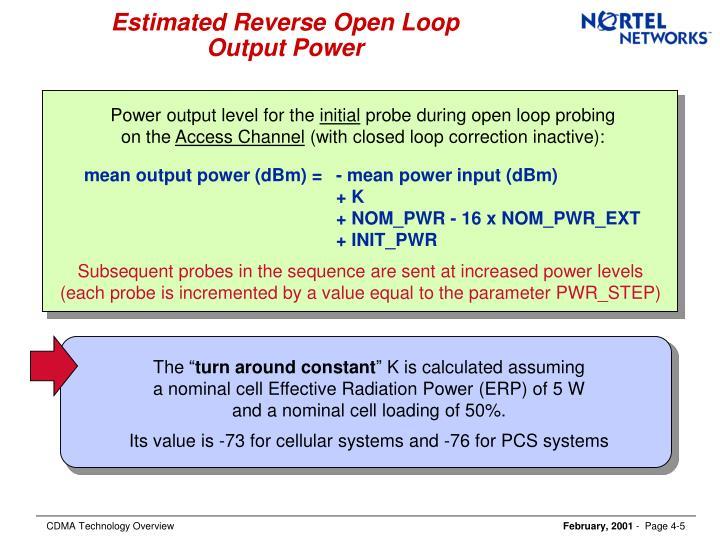 Estimated Reverse Open Loop