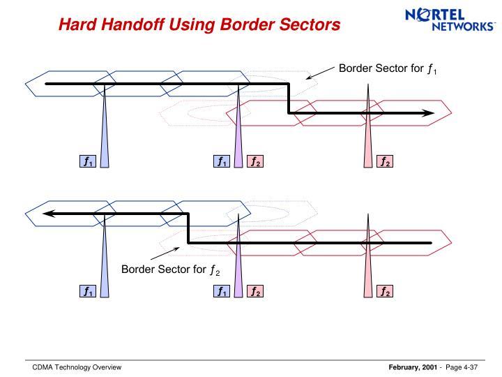Hard Handoff Using Border Sectors