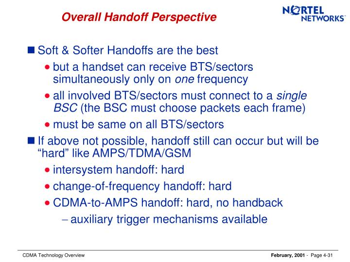 Overall Handoff Perspective