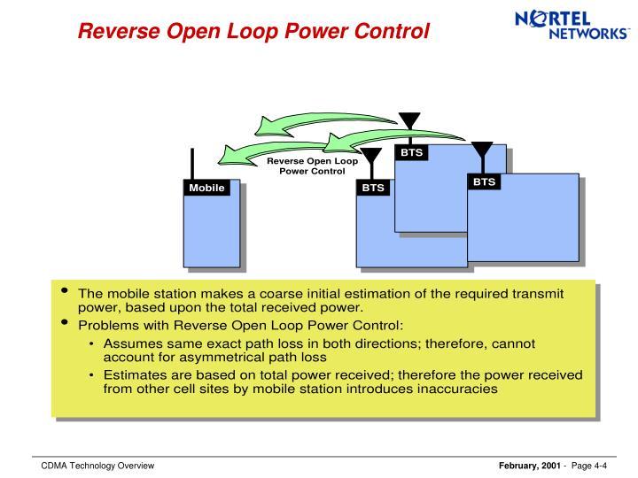 Reverse Open Loop Power Control