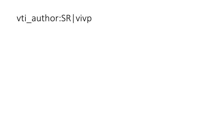 Vti author sr vivp