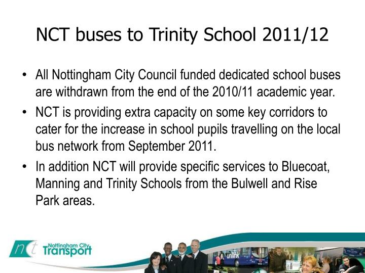 Ppt Nct Buses To Trinity School 2011 12 Powerpoint Presentation Free Download Id 3345897