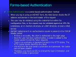 forms based authentication