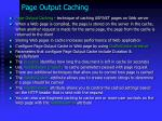page output caching