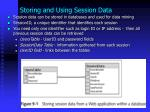 storing and using session data