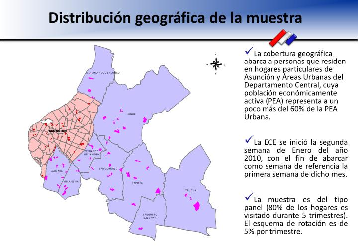 Distribución geográfica de la muestra