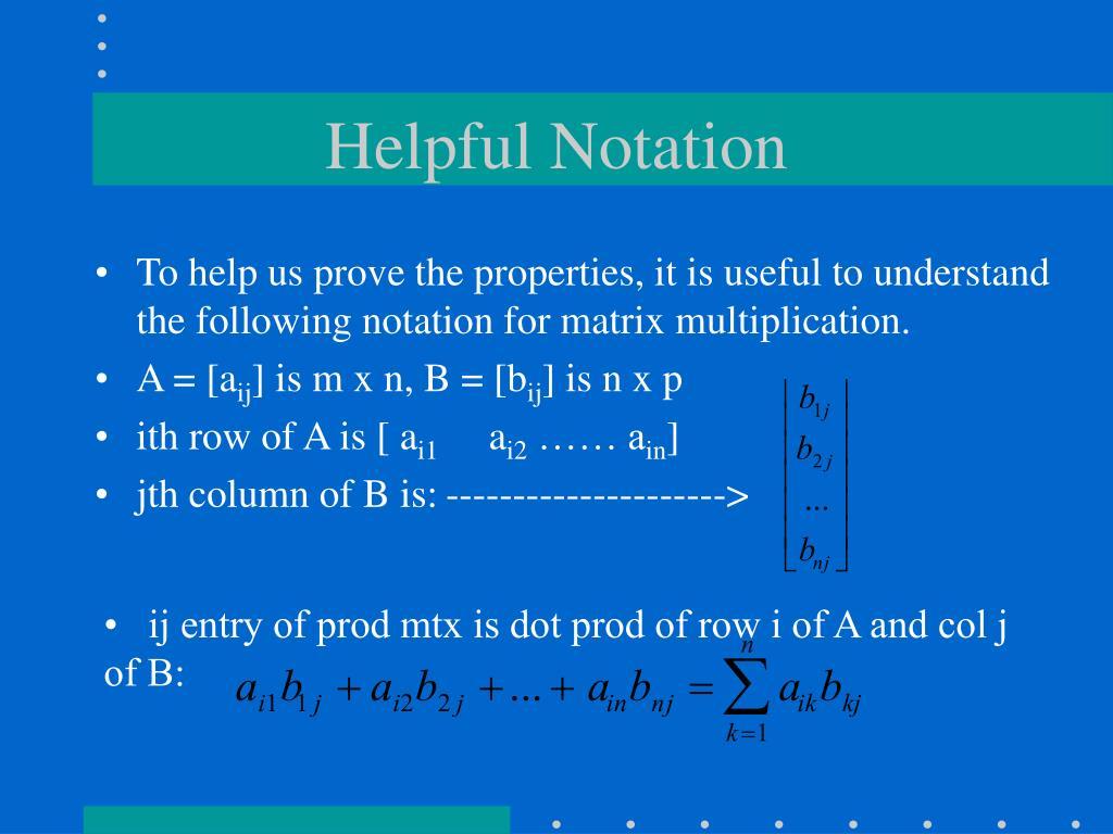 PPT - 2 2 Matrix Multiplication PowerPoint Presentation - ID