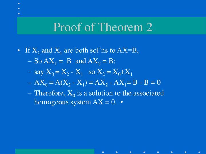 Proof of Theorem 2