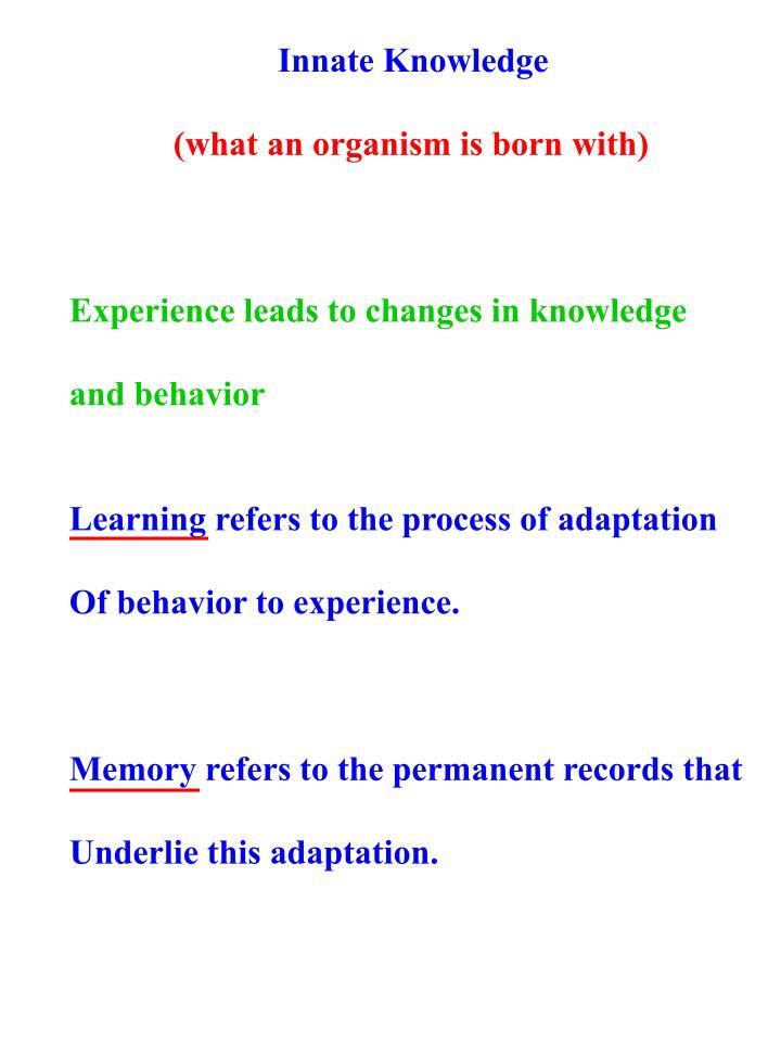 Innate Knowledge