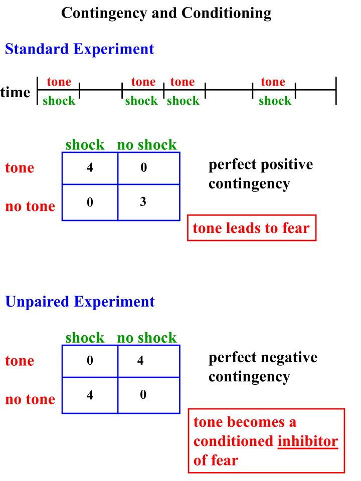 Contingency and Conditioning