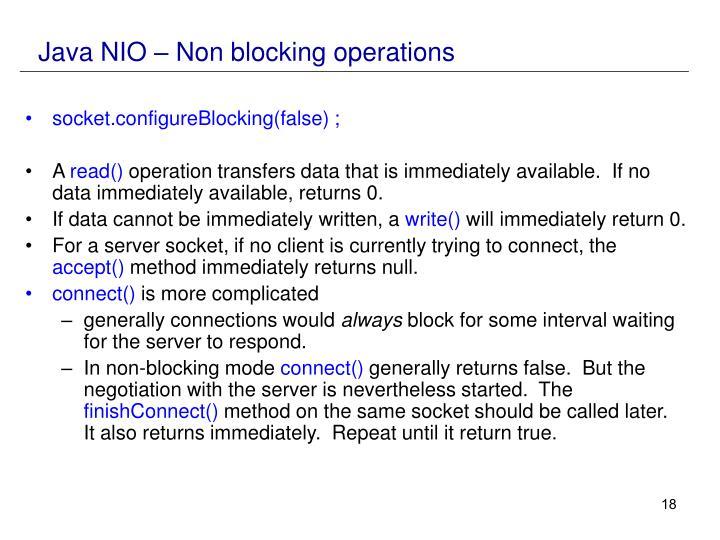 Java NIO – Non blocking operations