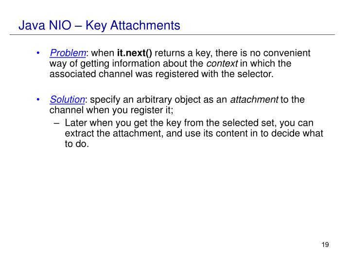 Java NIO – Key Attachments