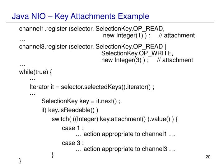 Java NIO – Key Attachments Example