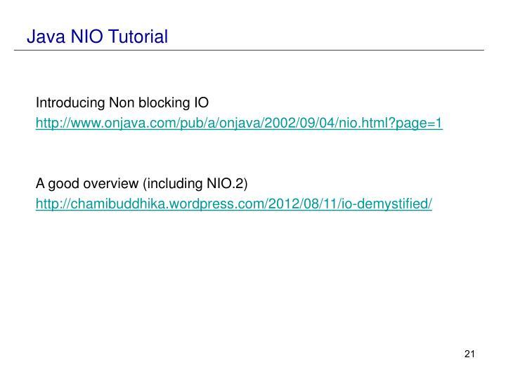 Java NIO Tutorial