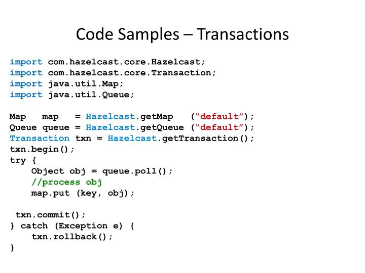 Code Samples – Transactions