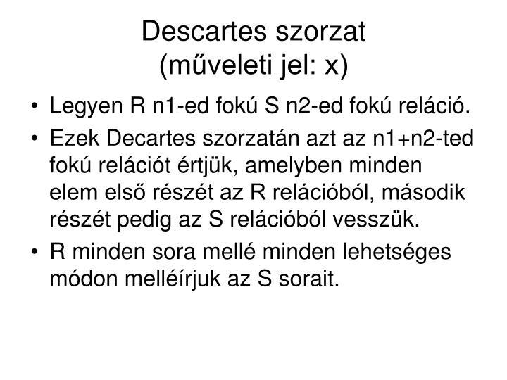 Descartes szorzat
