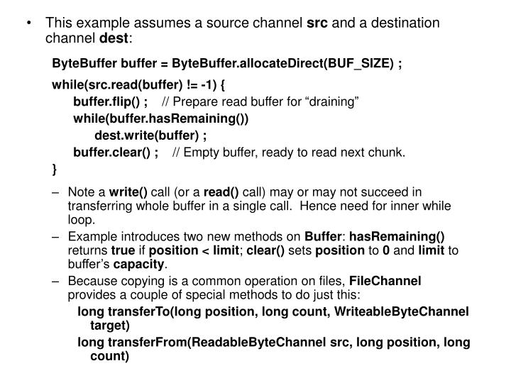 This example assumes a source channel