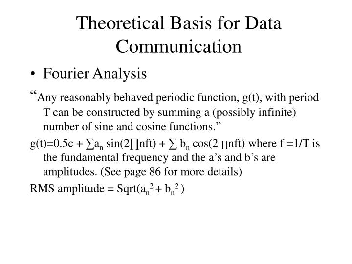 Theoretical basis for data communication
