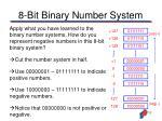 8 bit binary number system