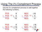 using the 2 s compliment process