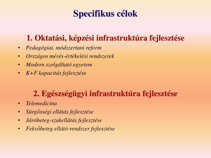 Specifikus célok