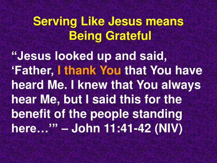 Serving Like Jesus means