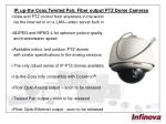 ip up the coax twisted pair fiber output ptz dome cameras