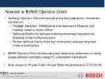 nowo w bvms operator client