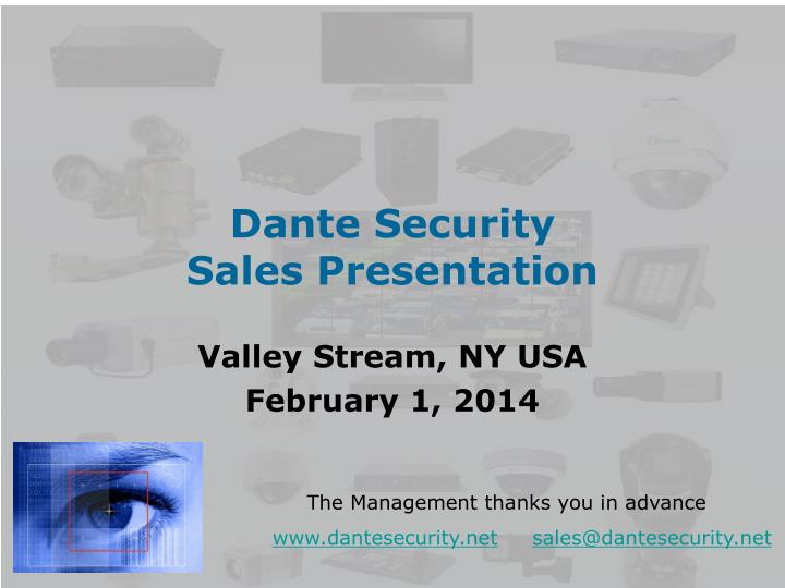 dante security sales presentation n.