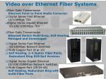 video over ethernet fiber systems