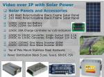 video over ip with solar power