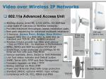 video over wireless ip networks