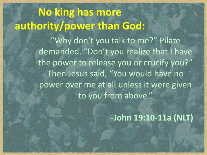 No king has more