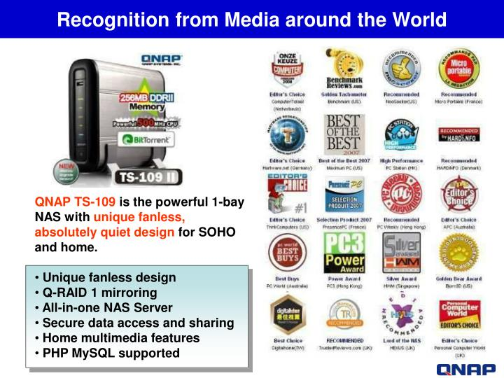 Recognition from Media around the World