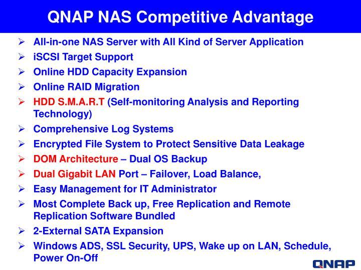 QNAP NAS Competitive Advantage